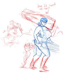 Cattleya Sketch by darrellsan