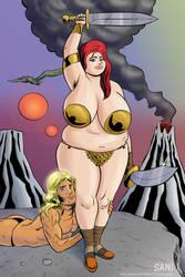 Barbarian Babe 3 by darrellsan
