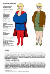 Blonde Marvel - Too Much Information Sheet by darrellsan