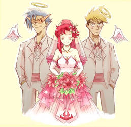 Gurren Lagann: Dual Wedding by greenglassesgirl
