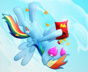 Rainbow Dash in Love with Doritos by Frogem