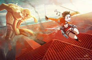 ATTACK ON TITAN  self portrait by CharlyChive