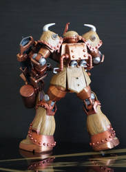 Steampunk Gouf Back View by LoonyLunie