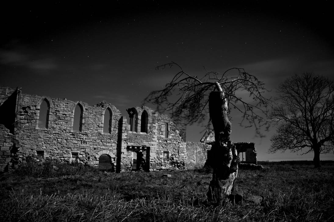 In the Moonlit Ruins by sonofsanta