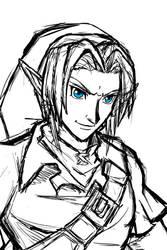 Ocarina of Time Link Sketch by crazyfreak