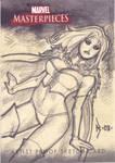 White Queen Sketch Card by RyanKinnaird