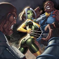 Rogue as a Skrull by RyanKinnaird