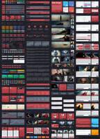 Flat Drop - Awesome Flat User Interface Kit by begha