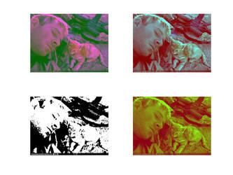 Warhol-esque Watchkitten by Kumorohyou