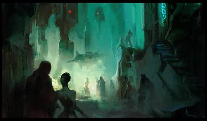 Night Life by MaxD-Art
