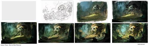 Jungle Track : Process by MaxD-Art