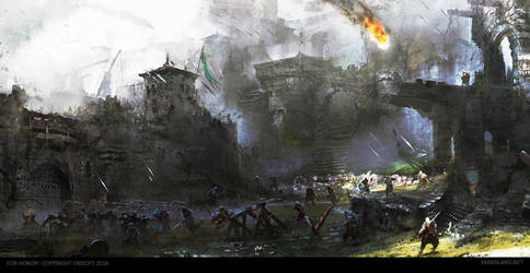 ForHonor : Courtyard's Battle by MaxD-Art