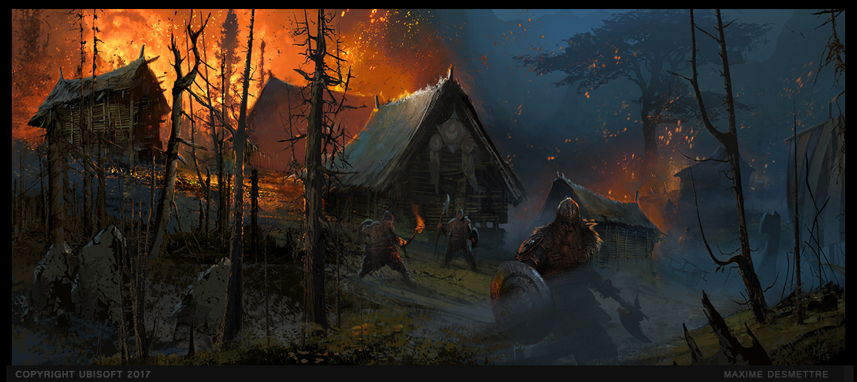 For Honor : Village Under Attack by MaxD-Art