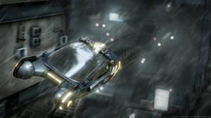 Blade Runner police Spinner (Blender 3D) by TomWalks