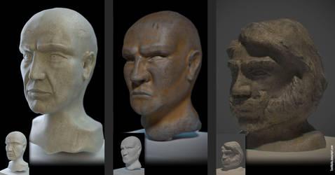 Sculpting studies (Blender 3D) by TomWalks