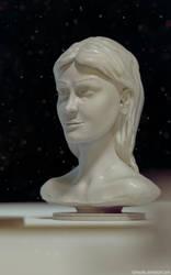 Woman head sculpt (Blender 3D) by TomWalks