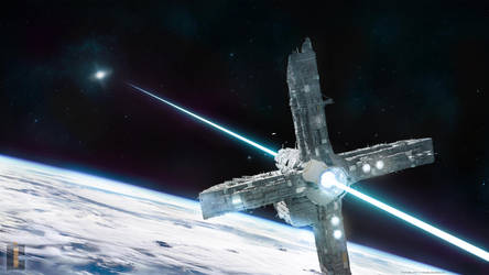 Beam Sailor _ Space station concept (Blender, 3D) by TomWalks