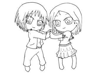 Boy and Girl Chibi by shinobitokobot