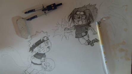 WIP sasuke and naruto by shinobitokobot