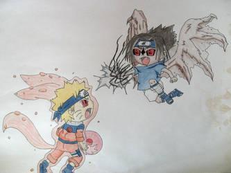 Sasuke Vs Naruto by shinobitokobot