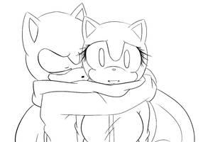 Sonic Base - hug (?) by OsoIchi