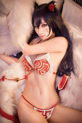 HaneAme cosplay league of lengends Ahri lol by HaneAme