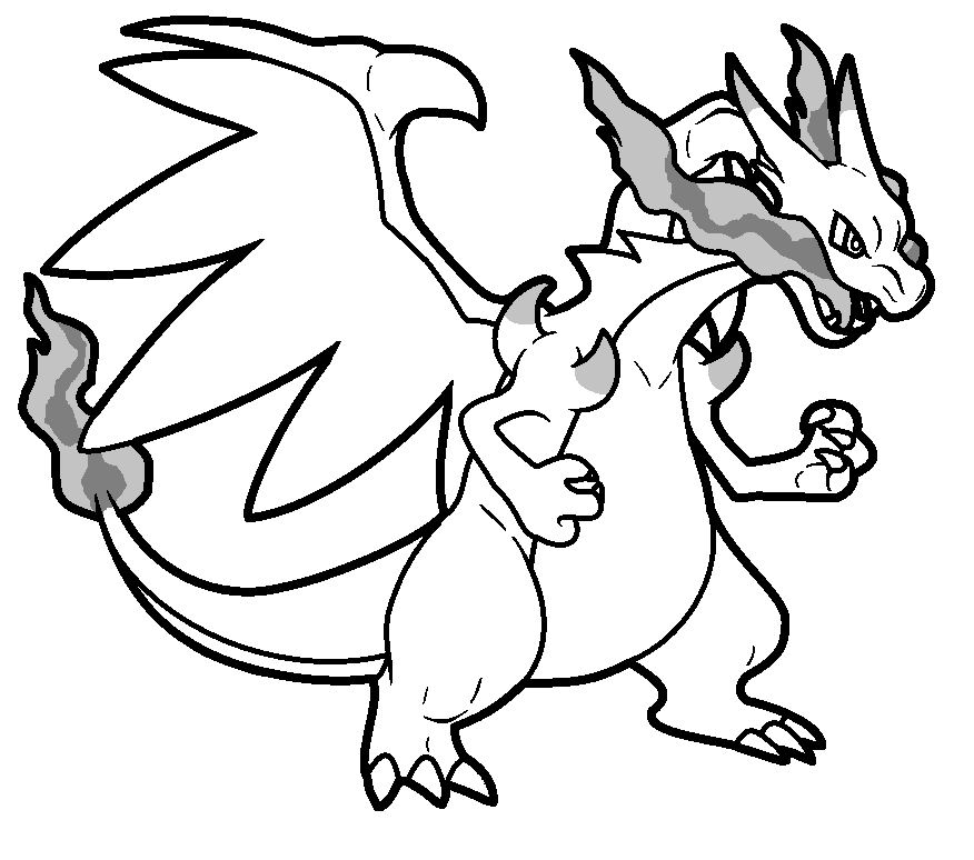 Kleurplaten Pokemon Charizard.Charmeleon Evolutions Kleurplaat Mega Charizard X Base By