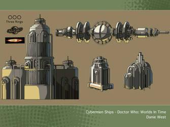 Cybermen Ships - Doctor Who: Worlds In Time by westernphilosopher