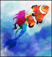 Little Mermaid Fish by Foux