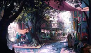Baqceti Street by weebasaurus