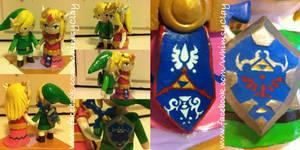 Link and Zelda Wedding Cake Topper by Emyradea
