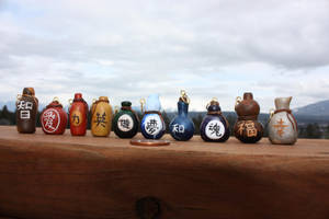 Sake Bottle Charms by thousandleaf0001