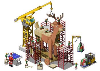 Trojan Reindeer by neodotcity