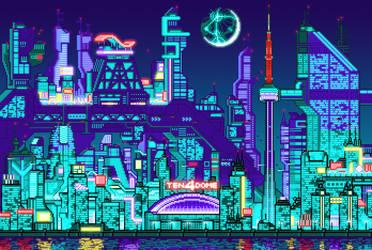 Neodot City Skyline by neodotcity