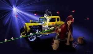 Dieselpunk Girl by JustmeTD