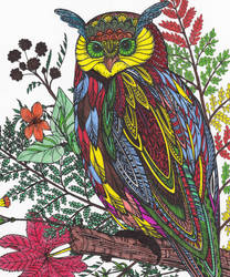 Owl Illustration by WiccaSmurf