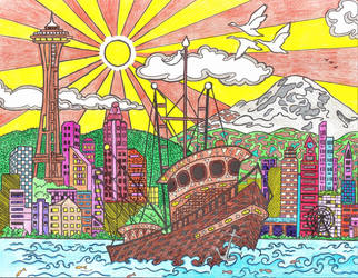 Seattle Waterfront by WiccaSmurf