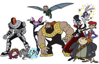 Villains by rufftoon