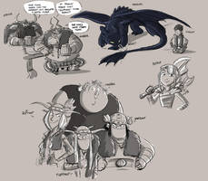 HTTYD sketches by rufftoon