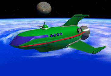 Planet Express Ship by Guardnacho