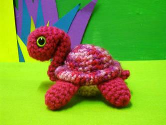 atlantis amigurumi turtle by rosieok
