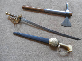 Spanish Boarding Axe, Custom Cutlass and Dagger by WillKing156