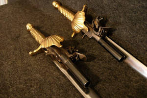 Dagger Pistols close up by WillKing156