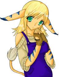 Kitsune-Aries OC Commission by LongCat-Productions