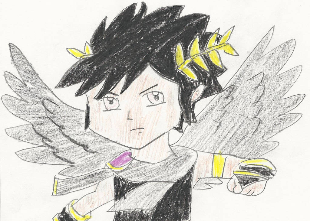 Kid Icarus Uprising Dark Pit Drawing By Catcamellia On Deviantart