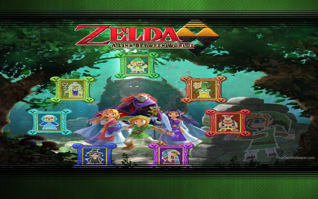 Legend Of Zelda A Link Between Worlds Wallpaper By Catcamellia On