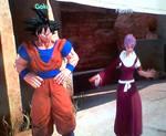 Goku and Fleurette by CatCamellia