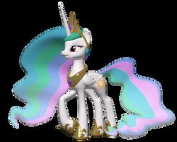 Princess Celestia 3D Model by Clawed-Nyasu