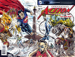 blank cover Action Comics by WIN79
