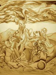 Goya, the Witches Sabbath by AlleywayNightscholar